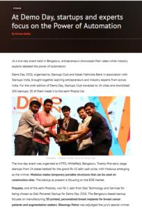Prayasta won special jury award @DemoDay, 2018